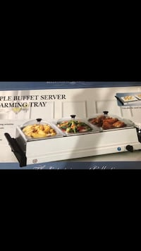New stainless steel buffet warmer/server. Never used or opened.   Charlotte, 28270