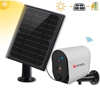 Solar Powered Security Camera+Solar Panel, Compatible