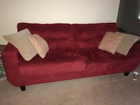 Red Sofa (with beige Pillows only) Alexandria, 22311