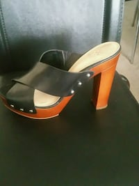 pair of black leather peep-toe pumps Oakville, L6H