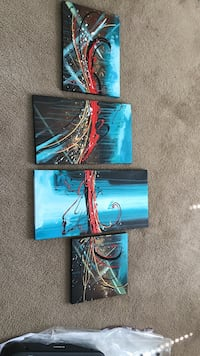 Four assorted color of abstract paintings Greensboro, 27410