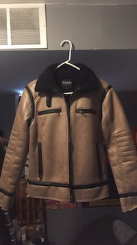 black and brown zip-up jacket Barrie, L4M 7G1