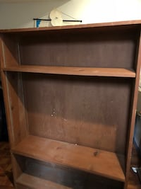 brown wooden 3-layer shelf Montgomery Village, 20886