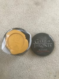 round black Game of Thrones set of six sigils wax seal coasters Lower Macungie, 18062