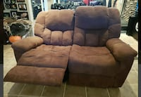 Suede recliner 2 seater sofa Laval, H7R 1W6