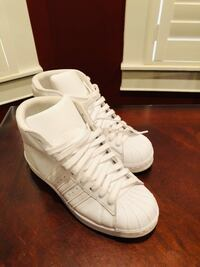 Adidas White Sneakers. Size 6. Will fit 7