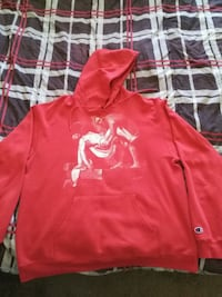Off White Pyrex Vision religion hoodie red XL Edmonton, T5T 3T1