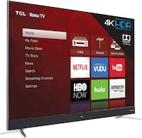 "TCL 65"" UHD 4K HDR LED Dolby Vision Roku Smart TV Washington"