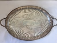 Vintage oval silverplate serving tray ~ mappin brothers Phoenix, 85044