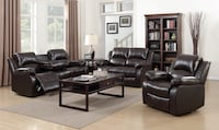 Astros Brown 3pc Reclining Living Room Set