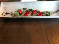 Green and red stone bracelet  Green Brook, 08812