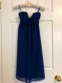 Navy blue dress with stone lining (extra small) Brampton