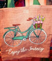 Burlap reusable shopping bag or day tote Vancouver, 98662