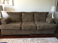 gray suede 3-seat sofa Stamford, 06901
