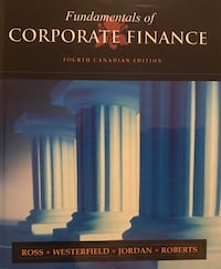 Fundamentals of Corporate Finance, 4th Canadian edition. textbook Montréal, H3T 1L3
