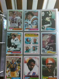 nine assorted football trading cards Memphis, 38109