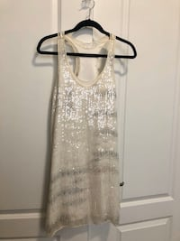 Club Monaco Ivory Sequin Dress Vaughan