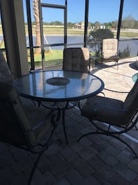 """54"""" Round Patio Table with 5 Chairs Port Saint Lucie, 34984"""