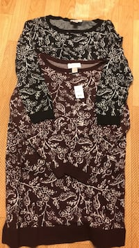 Black and white floral scoop-neck shirt 32 km
