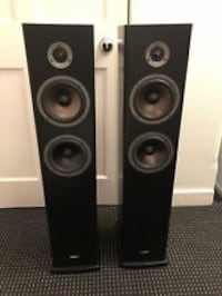 two black-and-gray tower speakers Riverview, 33578