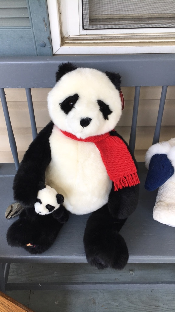 white and black panda plush toy for sale  Hagerstown