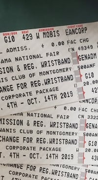 3 fair tickets admission and wristbands Montgomery, 36108