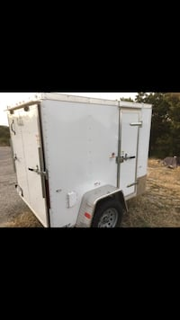 white and gray enclosed trailer Spring Branch, 78070