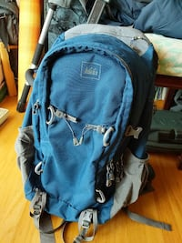 blue and gray REI mountaineering backpack San Francisco, 94134