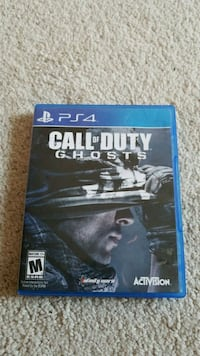 Call of Duty Ghosts PS4 game case Brampton