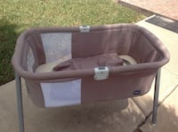 baby's gray and white travel cot Brownsville, 78526