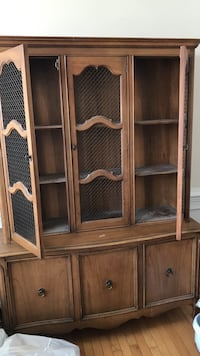 Brown wooden framed glass cabinet Hagerstown, 21740