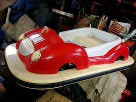 Red and White ride on toy car