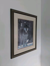 Frame photo art of a wolf in nature Caledon, L7E 2K8