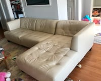 White leather tufted sectional sofa Seattle, 98126