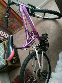 purple and white hardtail mountain bike Amarillo