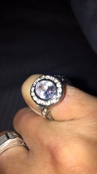 Lab diamond silver plated pinky ring Albuquerque, 87114