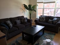 Couch, Loveseat, Table, Rug