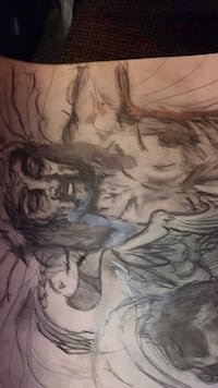 hand drawn artwork mainly (portraits) for gifts holidays memorials etc. $ depending on size