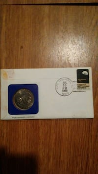 Neil armstrong stamped & signed envelope N coin  Ranson, 25438