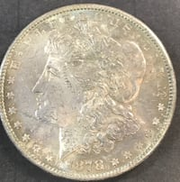 1878-S Morgan Silver Dollar BU Nicely Toned (C8) Redding