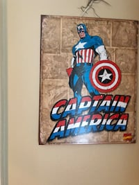 Metal captain America picture Raceland, 70394