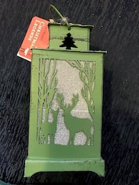Green Hanging Lantern Candle Holder Christmas Ornament  San Diego