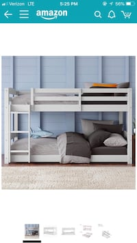 New inbox twin over twin bunk floor bunk bed (No mattress included ) Las Vegas, 89156