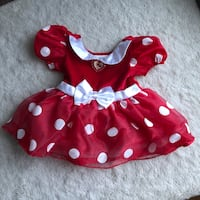 Disney Store Exclusive Baby Girls Minnie Mouse Dress Costume Red 6-12 Haverhill, 01832
