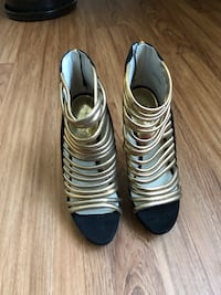 Black & Gold Michael KORS Heels Redding, 96002