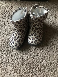 white and black leopard print leopard print heeled shoes District Heights, 20747