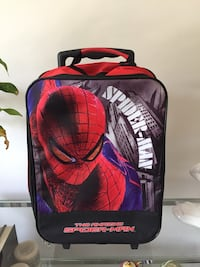 Black and red spider-man suit case Newmarket, L3Y 7S3