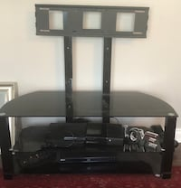 Black glass-top tv stand with mount Toronto, M1W 2N5
