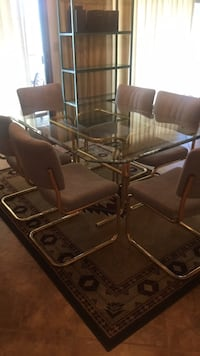 rectangular glass-top table with chairs Tempe, 85281