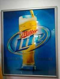 Large Miller Lite Framed Mirror Newark, 19711